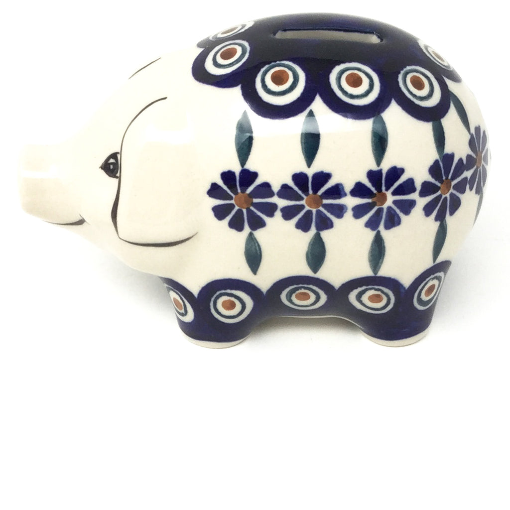 Piggy Bank-Miniature in Peacock