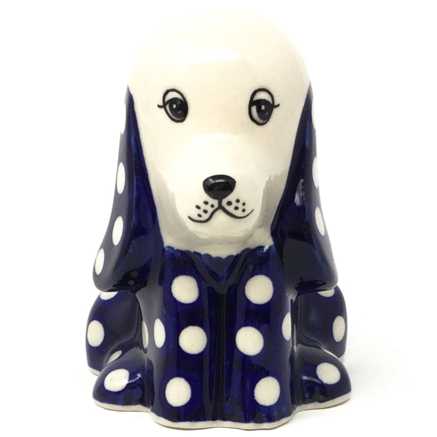 Lg Dog-Miniature in White Polka-Dot