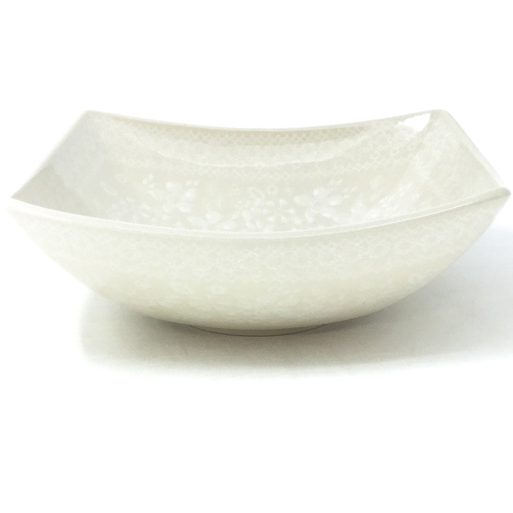 Sm Nut Bowl in White on White