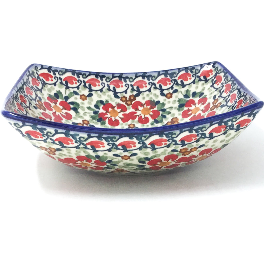 Sm Nut Bowl in Red Poppies