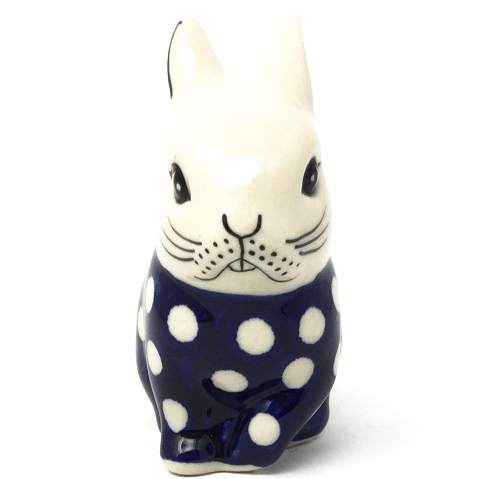 Lg Rabbit-Miniature in White Polka-Dot