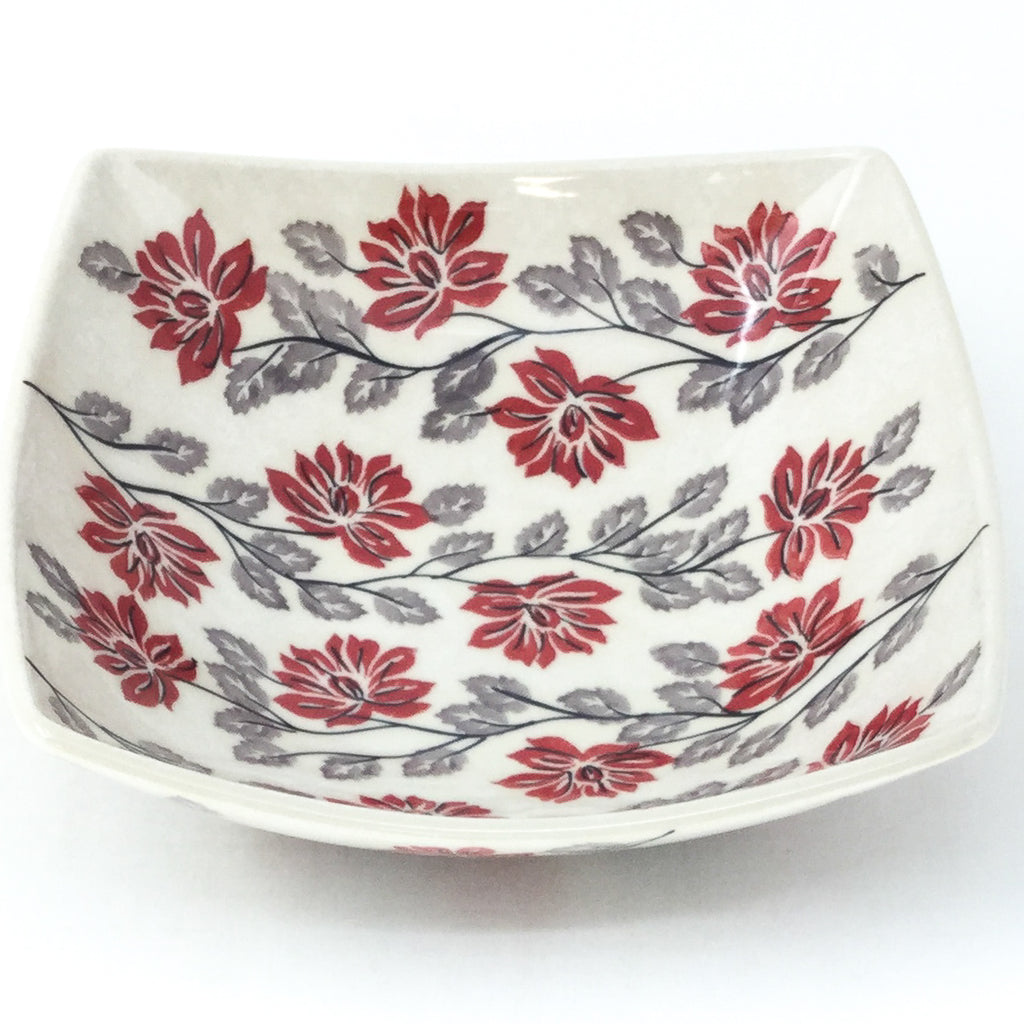 Sm Nut Bowl in Red & Gray