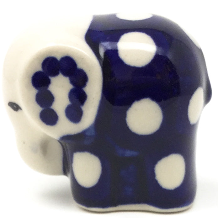 Baby Elephant-Miniature in White Polka-Dot