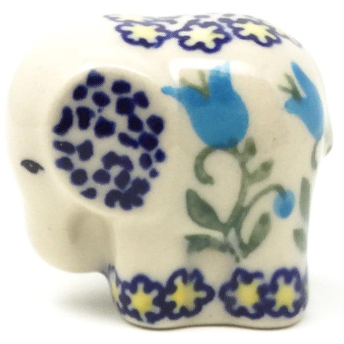 Baby Elephant-Miniature in Blue Tulips