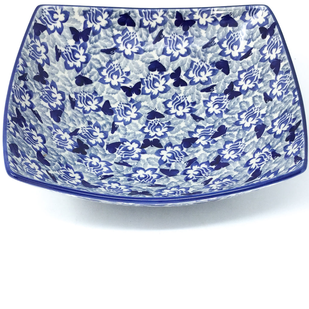 Lg Nut Bowl in Blue Butterfly