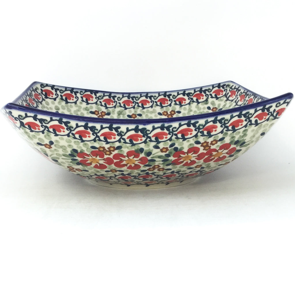 Lg Nut Bowl in Red Poppies