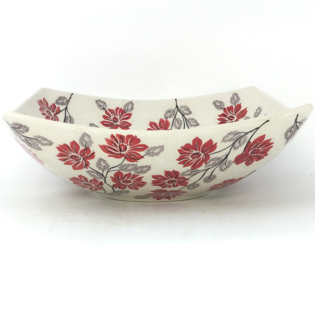 Lg Nut Bowl in Red & Gray