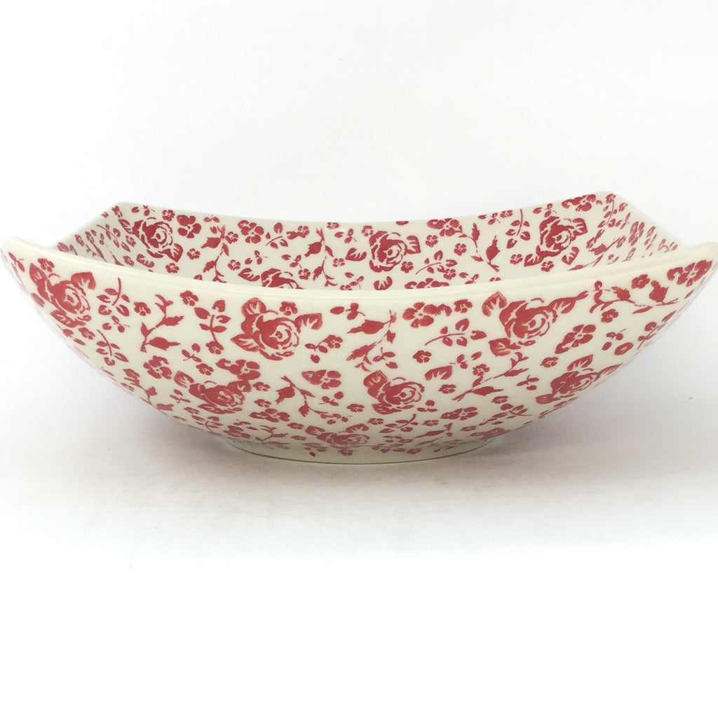 Lg Nut Bowl in Antique Red