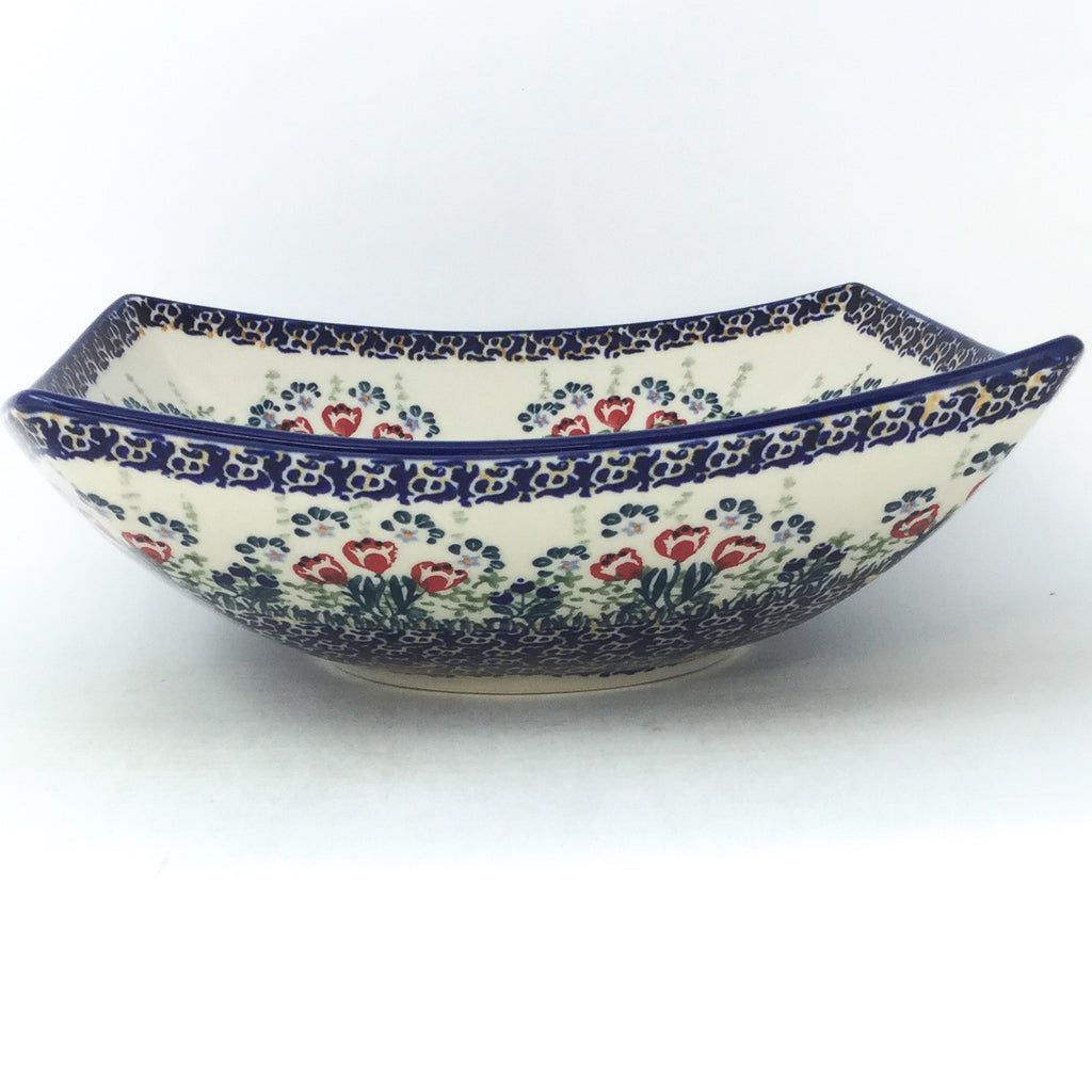 Lg Nut Bowl in Red Tulips