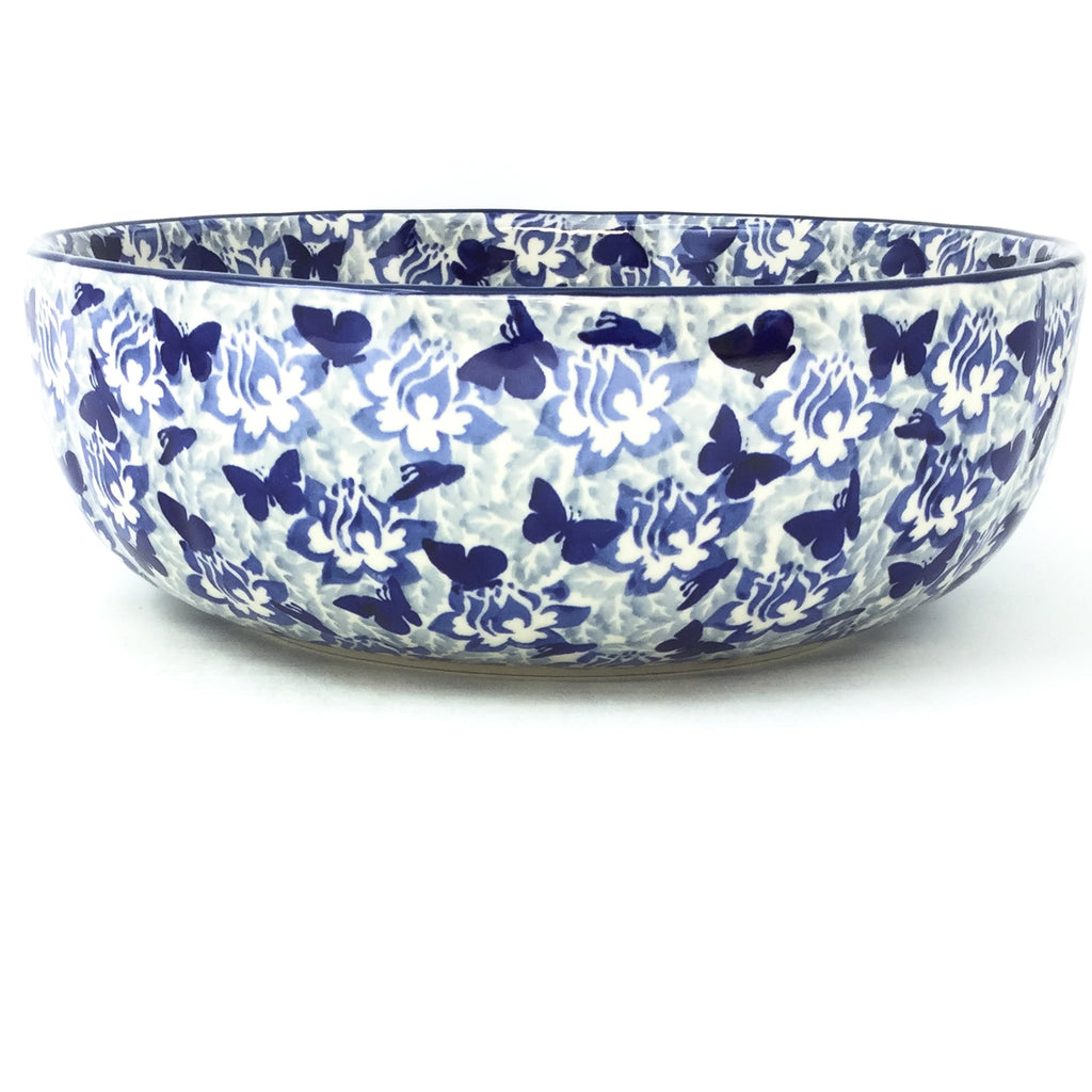 Family Shallow Bowl in Blue Butterfly