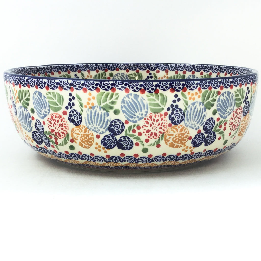 Family Shallow Bowl in Modern Berries