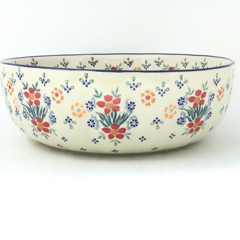 Shallow Bowl in Delicate Flowers