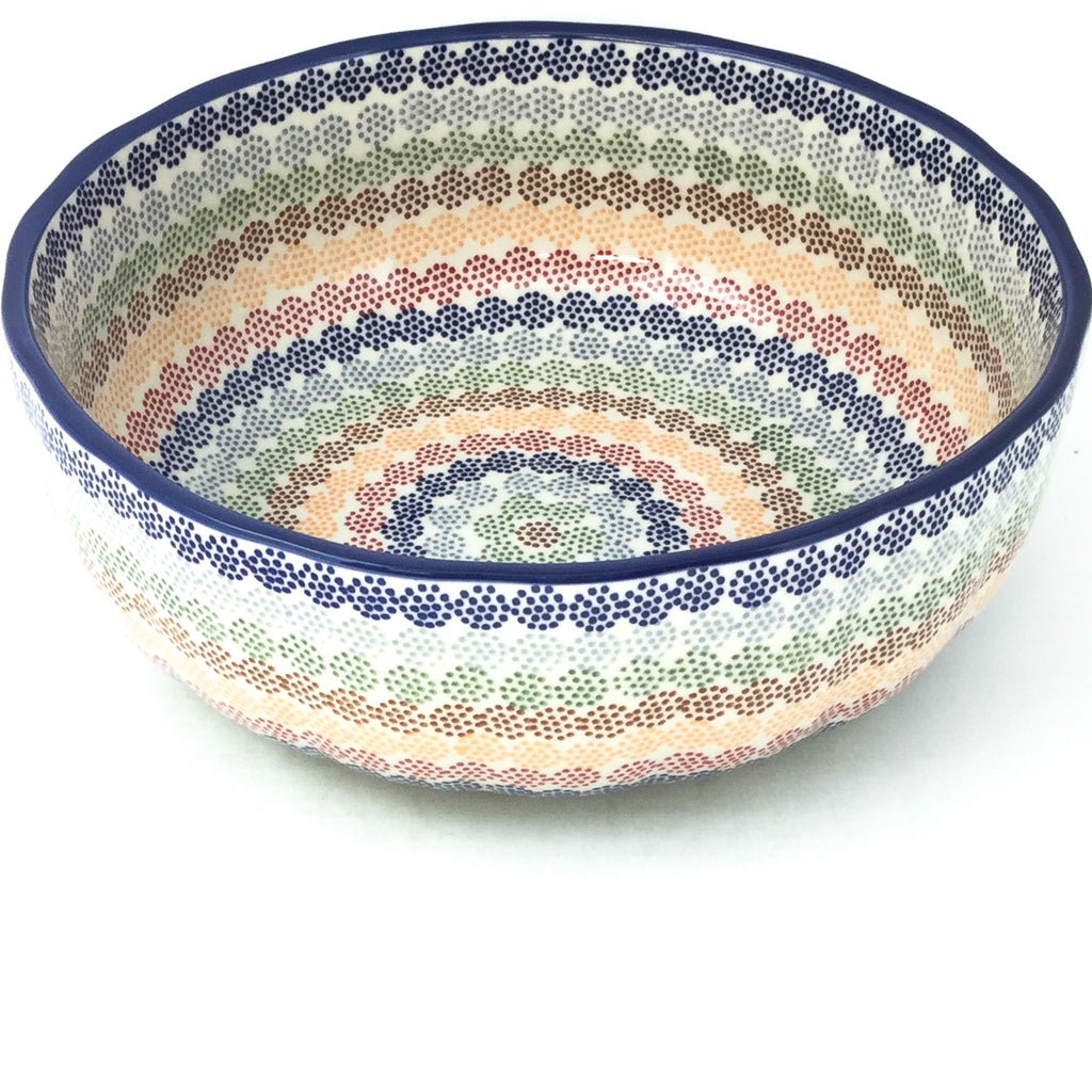 Family Shallow Bowl in Modern Dots