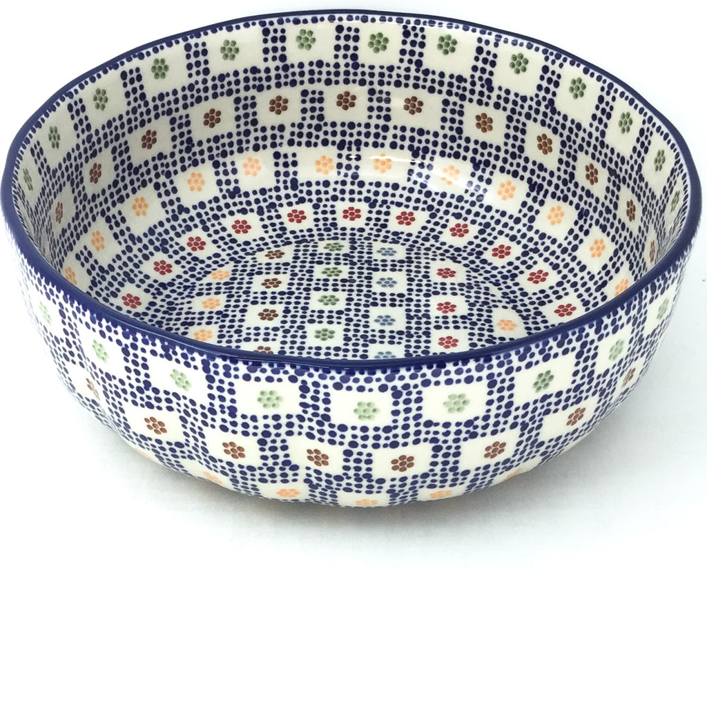 Family Shallow Bowl in Modern Checkers