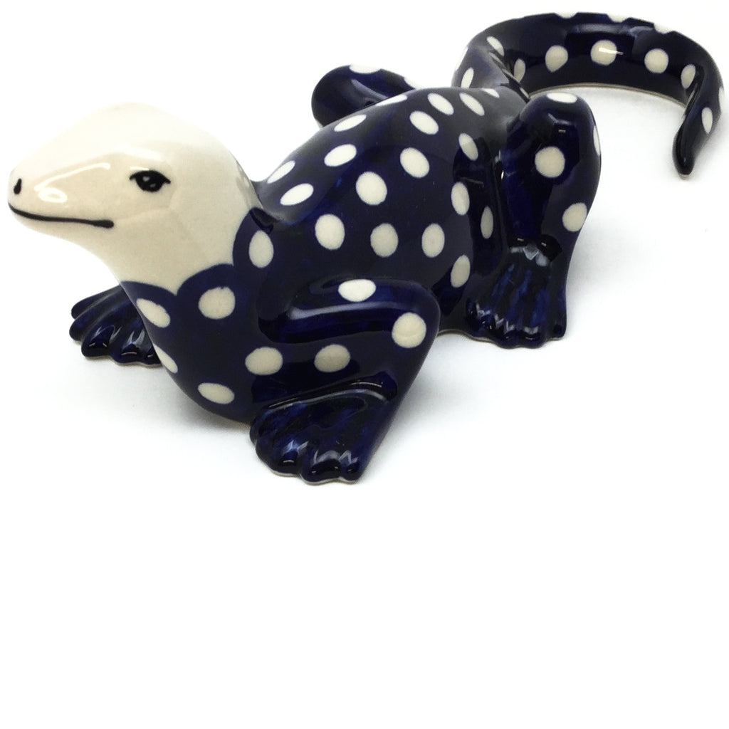 Garden Lizard-Miniature in White Polka-Dot