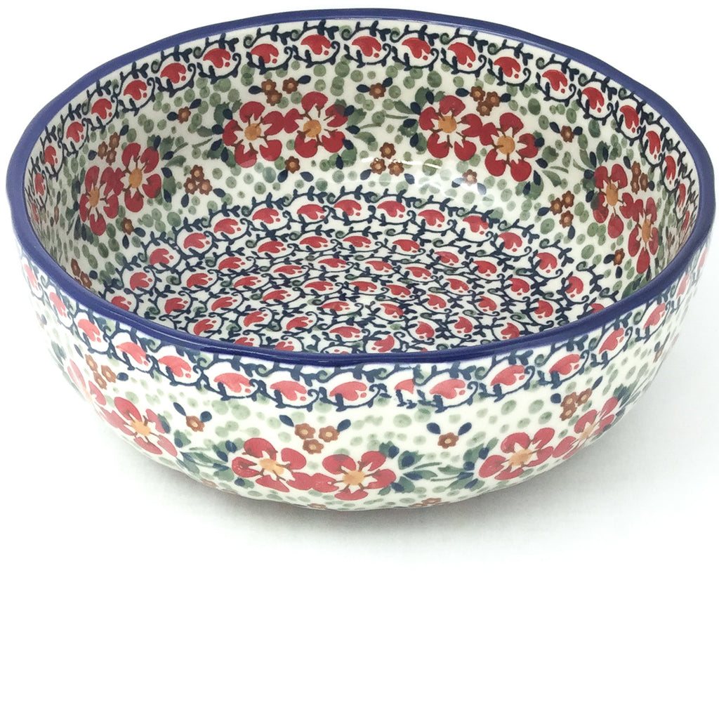 Family Shallow Bowl in Red Poppies
