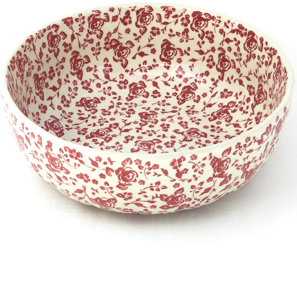 Family Shallow Bowl in Antique Red