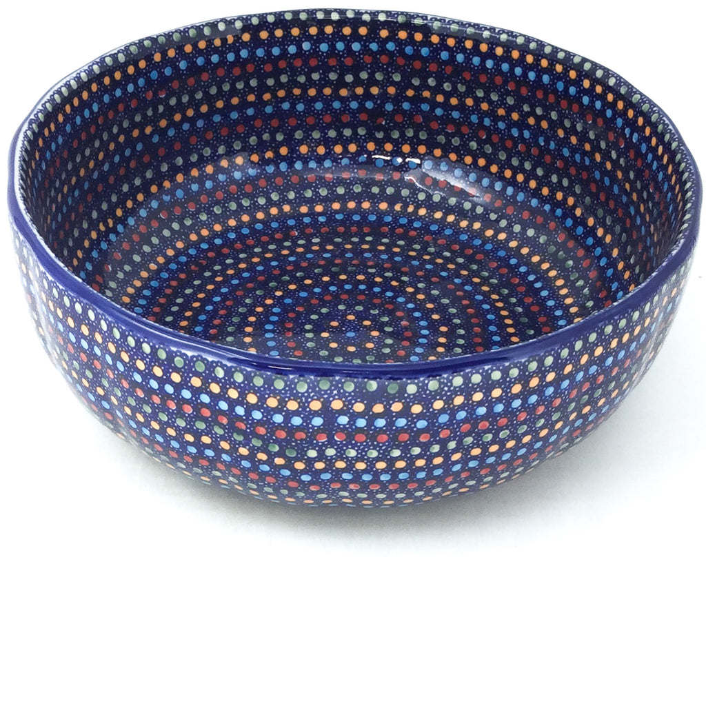 Family Shallow Bowl in Multi-Colored Dots