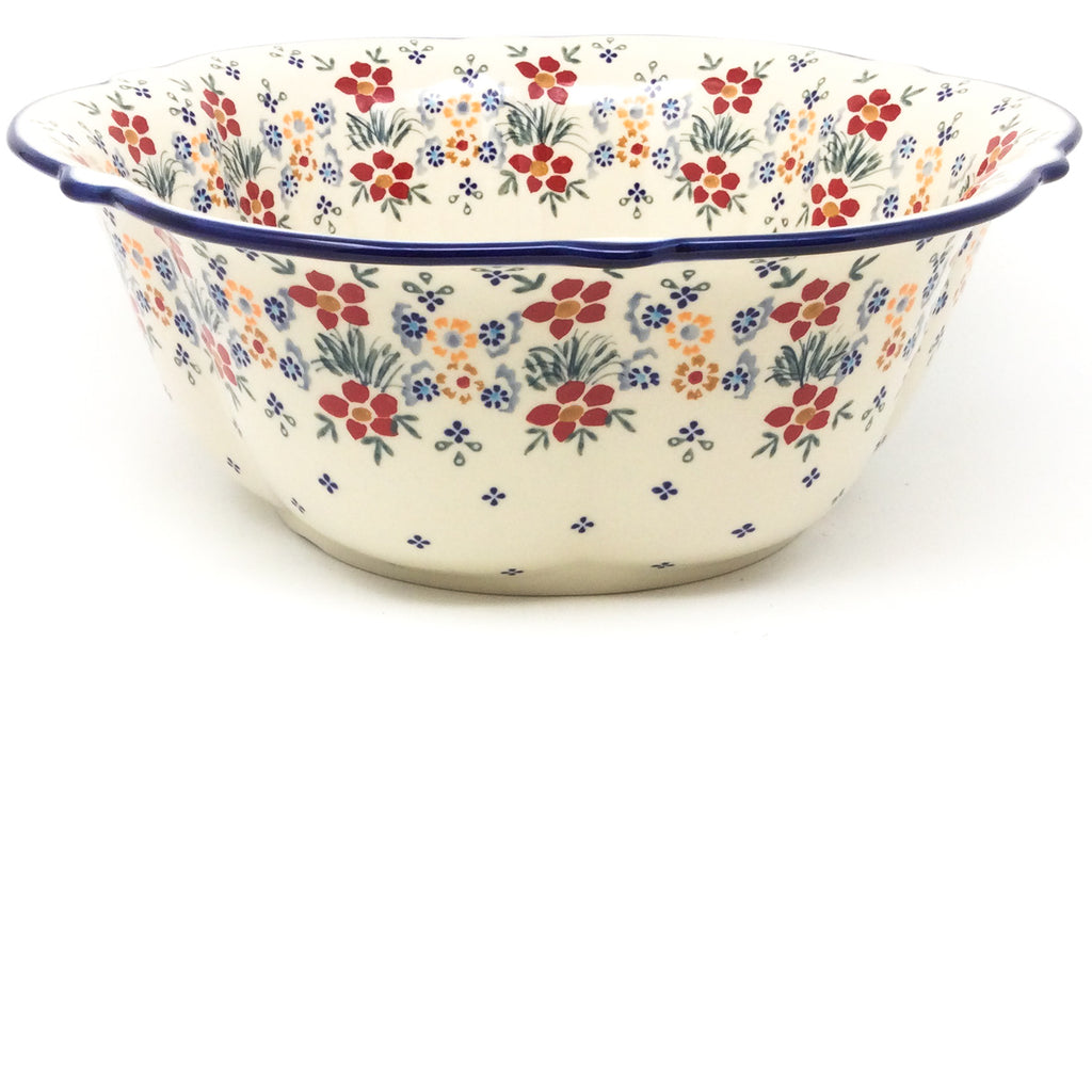 Lg Retro Bowl in Delicate Flowers