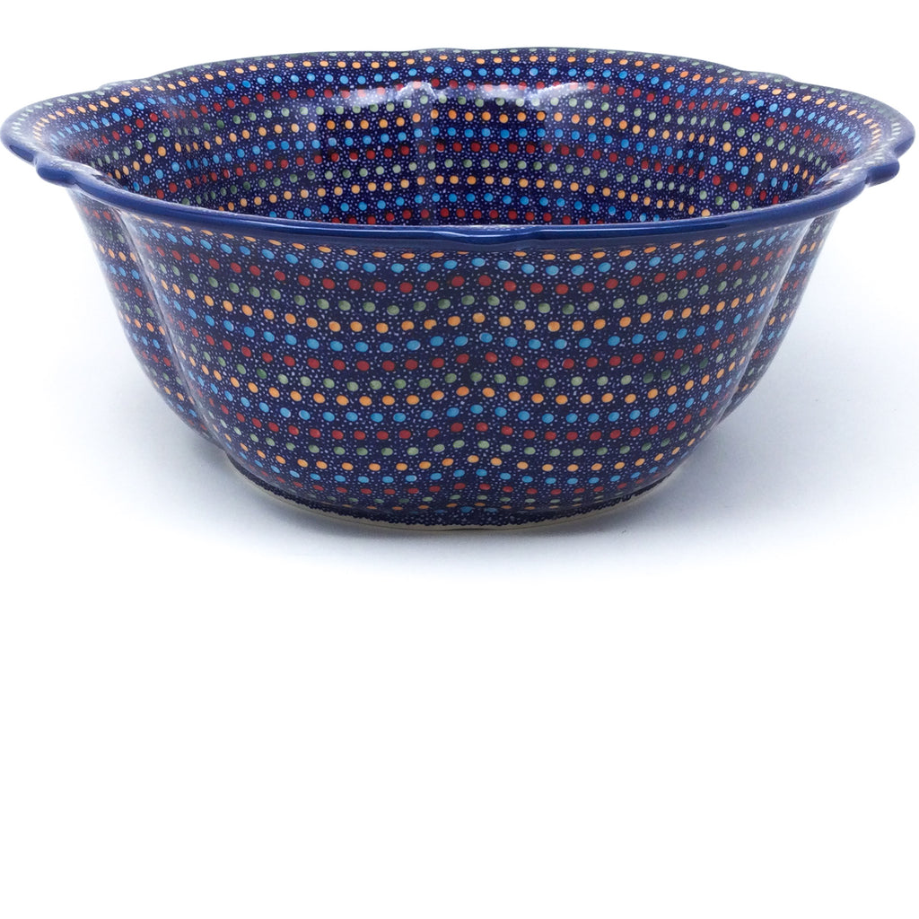 Lg Retro Bowl in Multi-Colored Dots