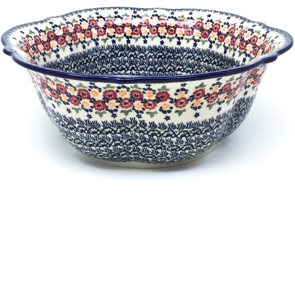 Lg Retro Bowl in Wild Roses