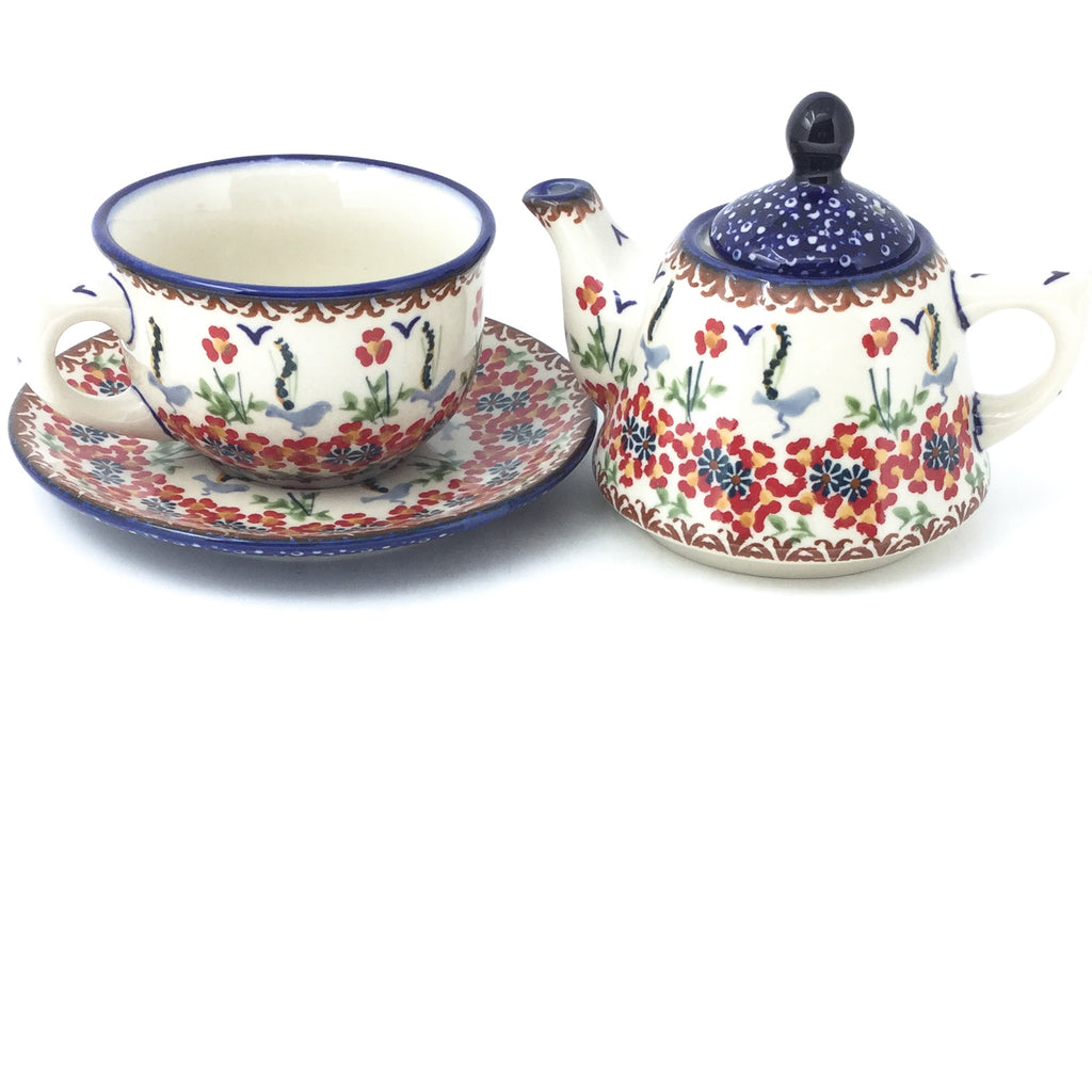 Teapot w/Cup & Saucer in Simply Beautiful