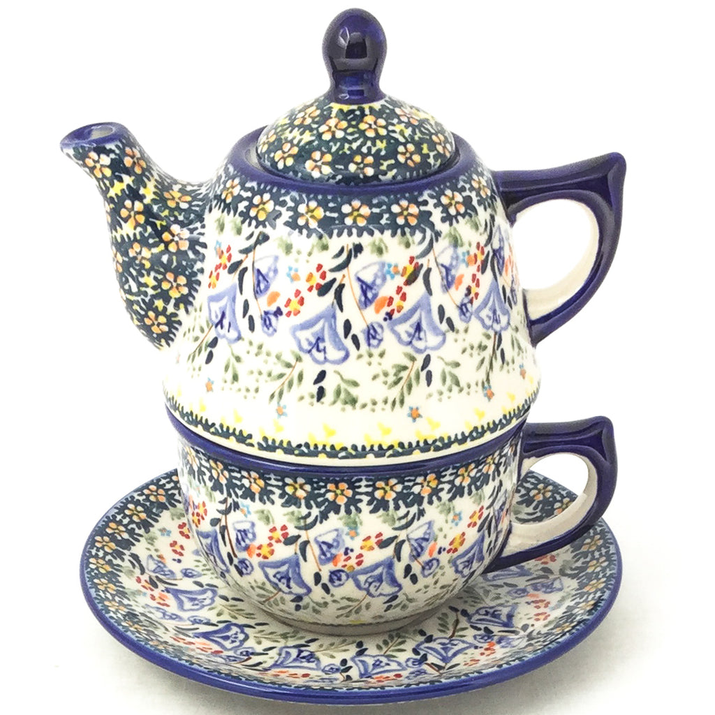 Teapot w/Cup & Saucer in Autumn