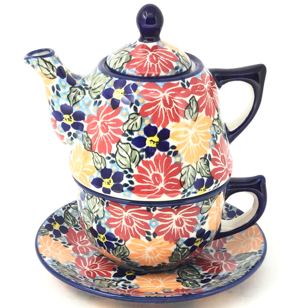 Teapot w/Cup & Saucer in Just Glorious