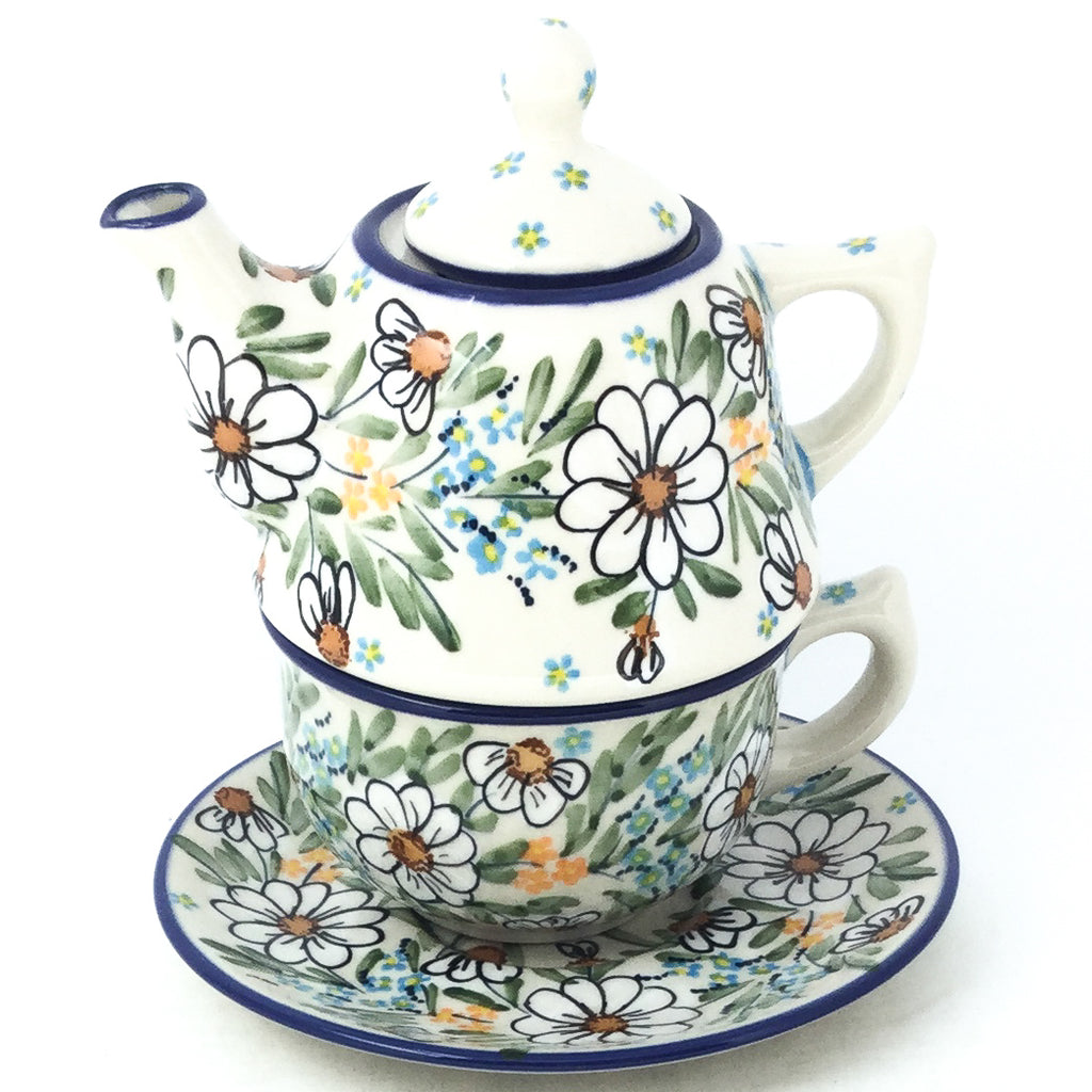 Teapot w/Cup & Saucer in Spectacular Daisy