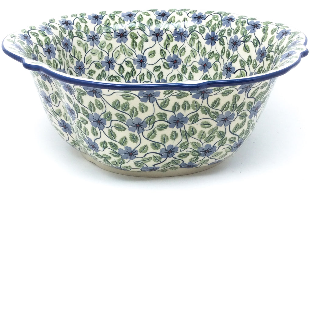 Lg Retro Bowl in Blue Clematis