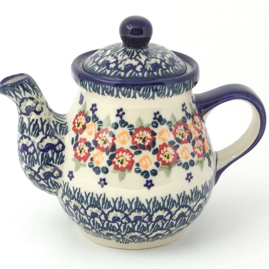 Night Time Teapot 12 oz in Wild Roses