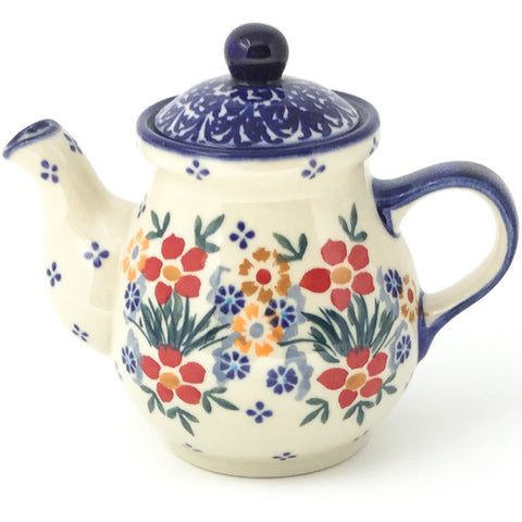 Night Time Teapot 10 oz in Delicate Flowers