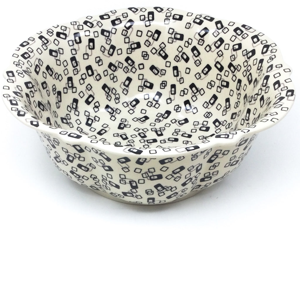Lg Retro Bowl in Modern Gray & Black
