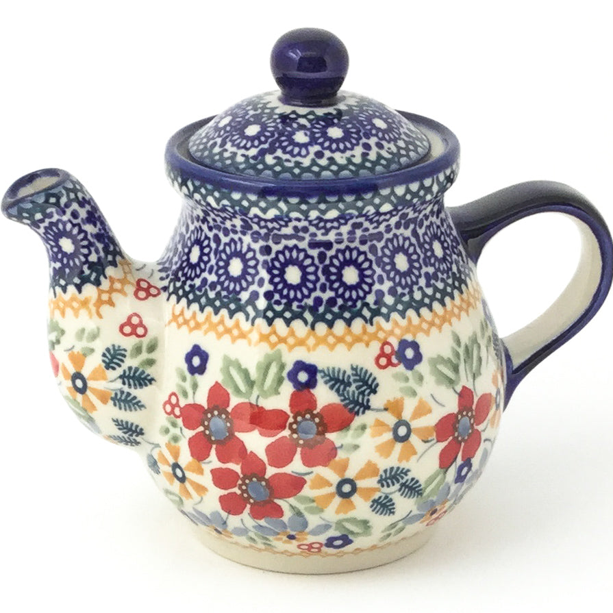 Night Time Teapot 12 oz in Summer Bouquet