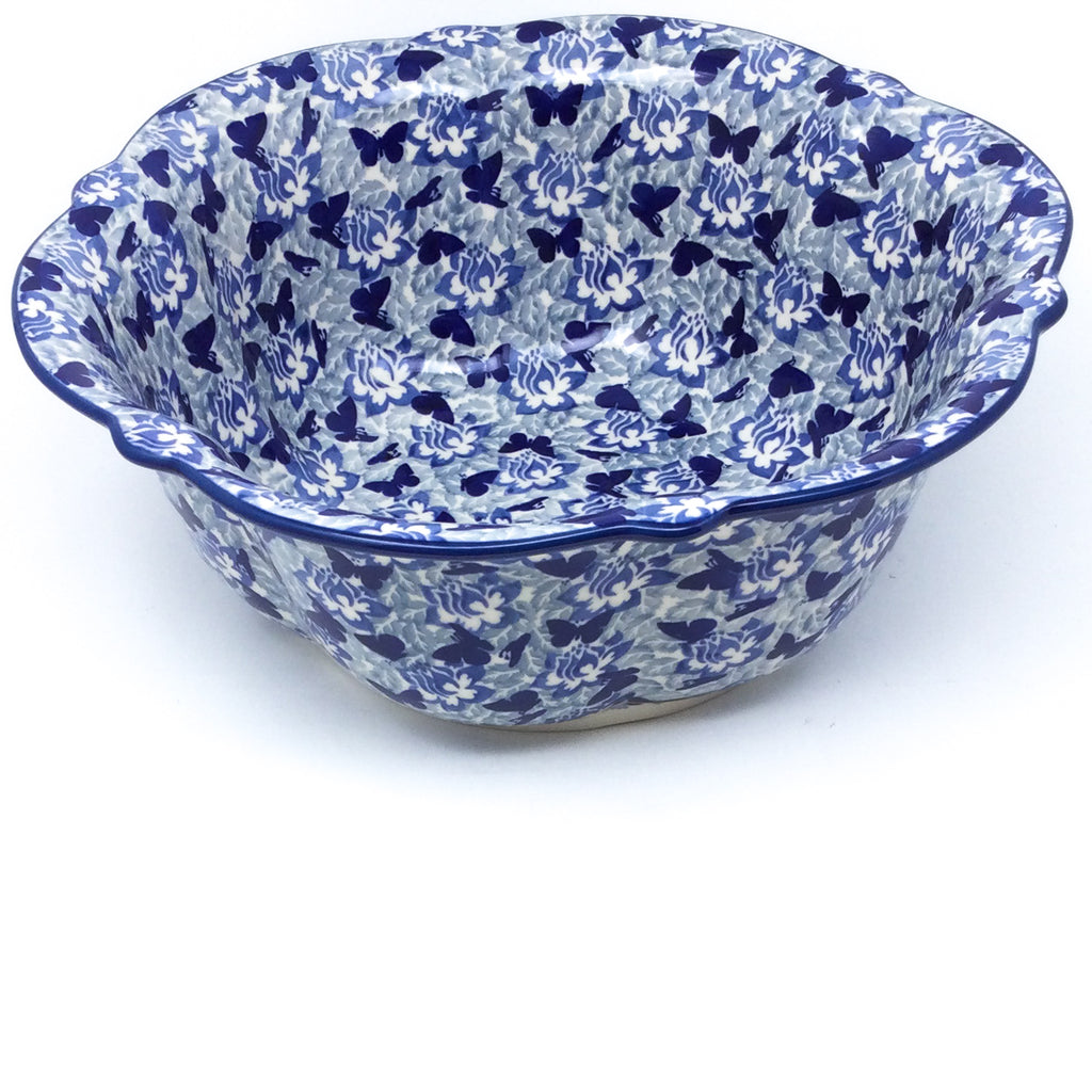 Lg Retro Bowl in Blue Butterfly