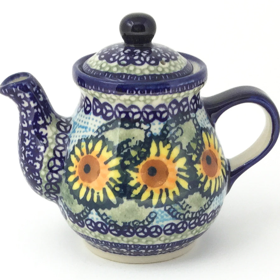 Night Time Teapot 12 oz in Sunflowers