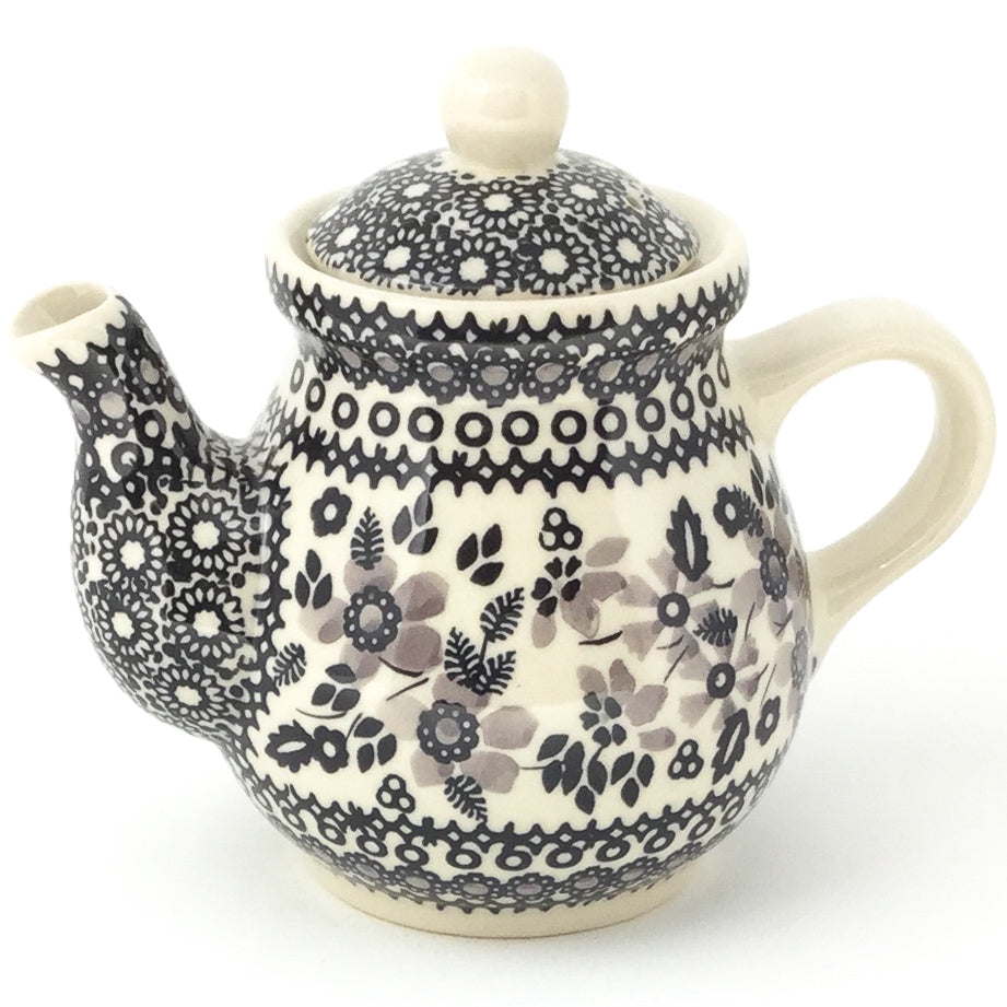 Night Time Teapot 12 oz in Gray & Black