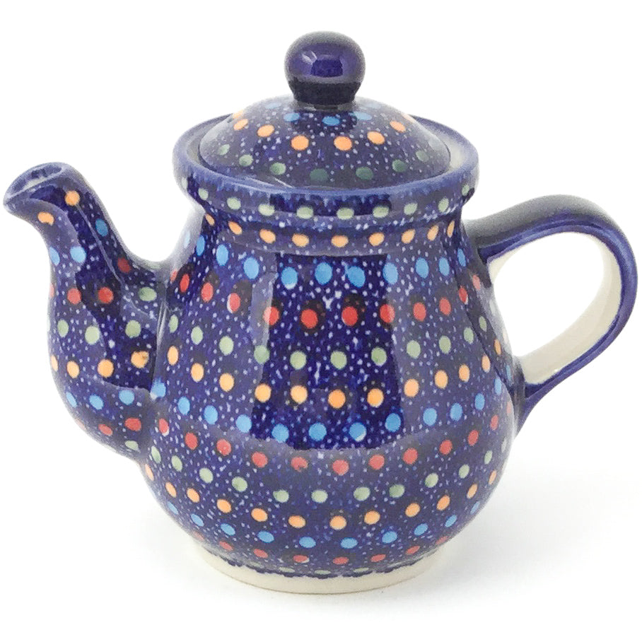 Night Time Teapot 12 oz in Multi-Colored Dots