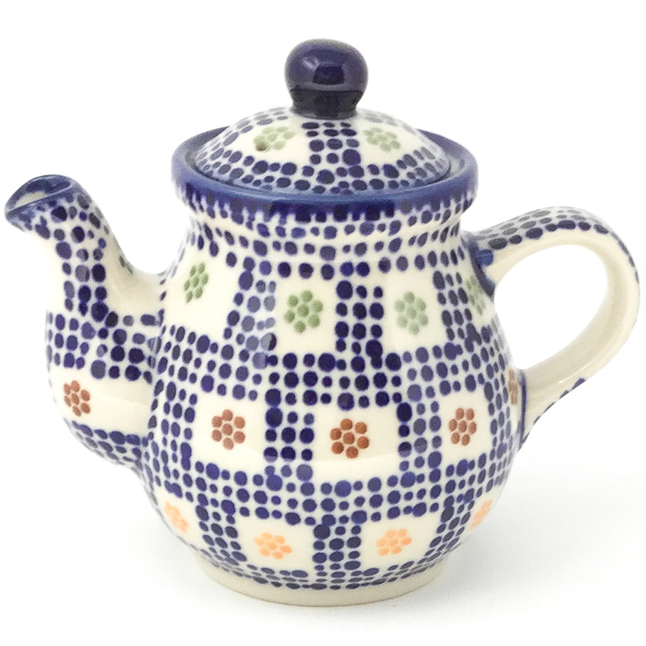 Night Time Teapot 12 oz in Modern Checkers