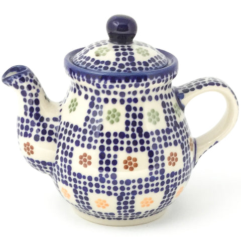 Night Time Teapot 10 oz in Modern Checkers