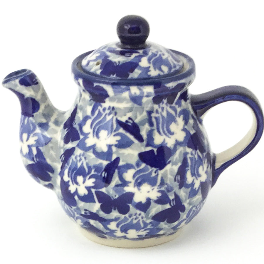 Night Time Teapot 12 oz in Blue Butterfly