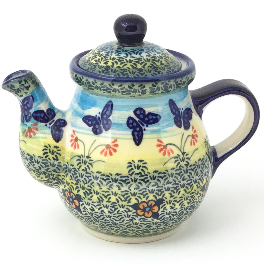 Night Time Teapot 12 oz in Butterfly Field