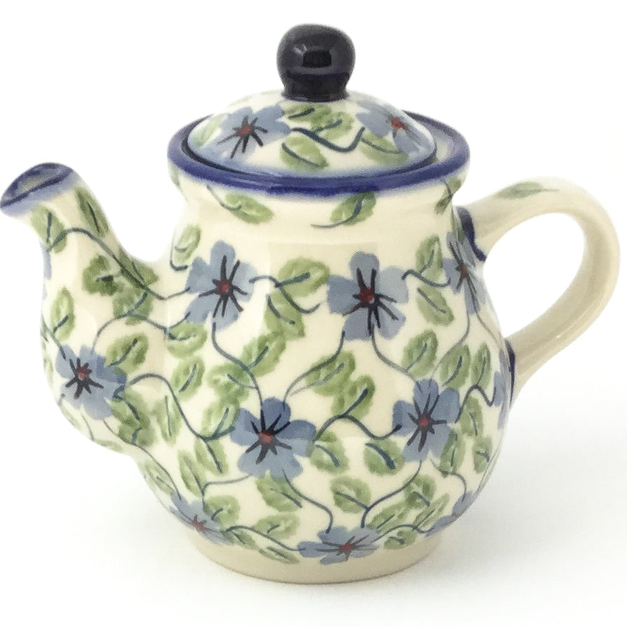 Night Time Teapot 12 oz in Blue Clematis