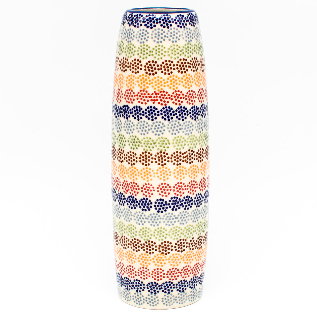 Scalloped Bowl 128 oz in Red Crab