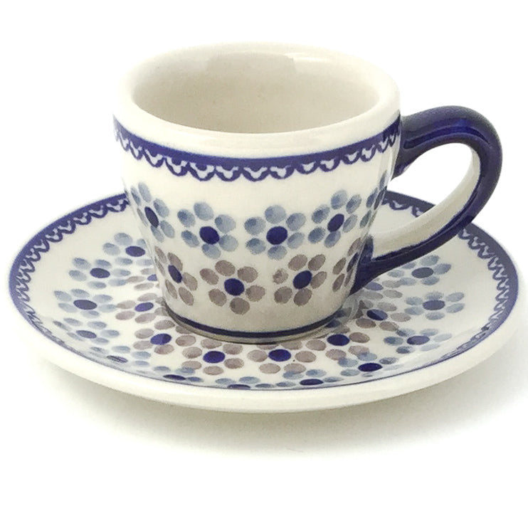 Espresso Cup w/Saucer 2 oz in Simply Daisy