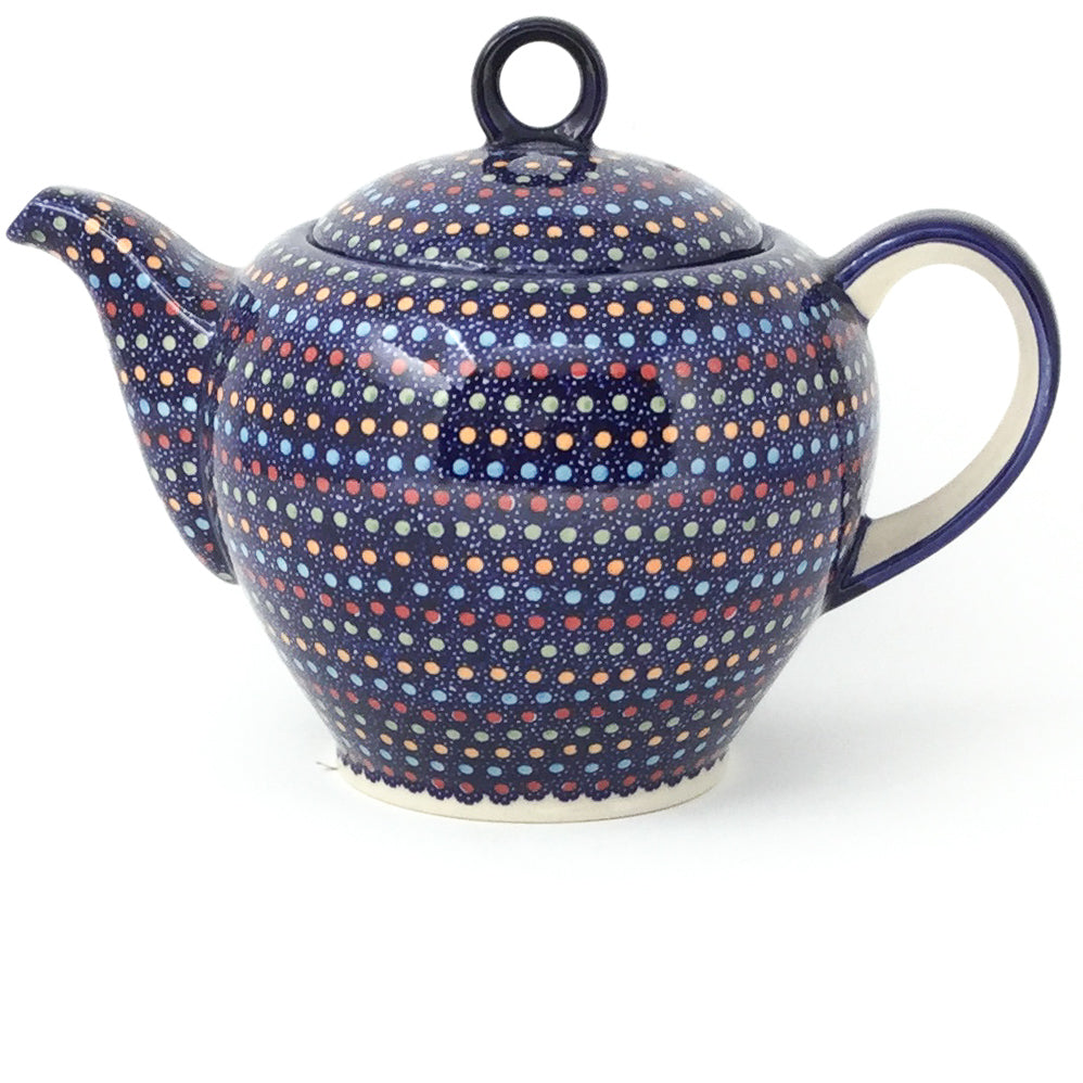 Victorian Teapot 1.75 qt in Multi-Colored Dots