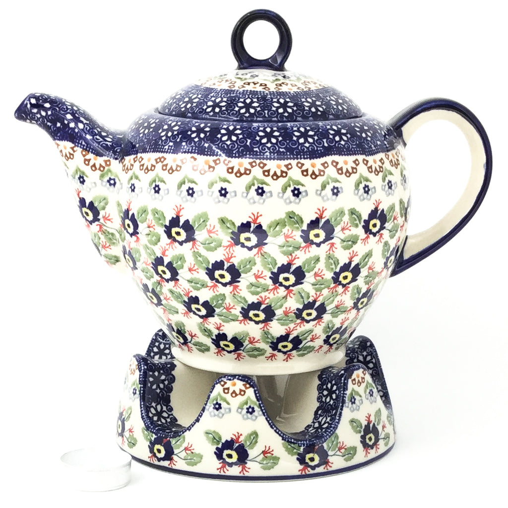 Victorian Teapot 1.75 qt in Forget-Me-Not