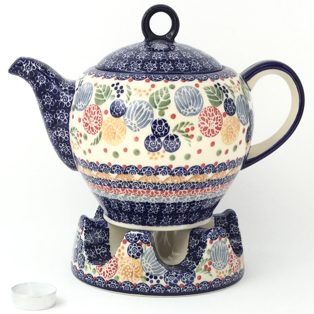 Victorian Teapot 1.75 qt in Modern Berries