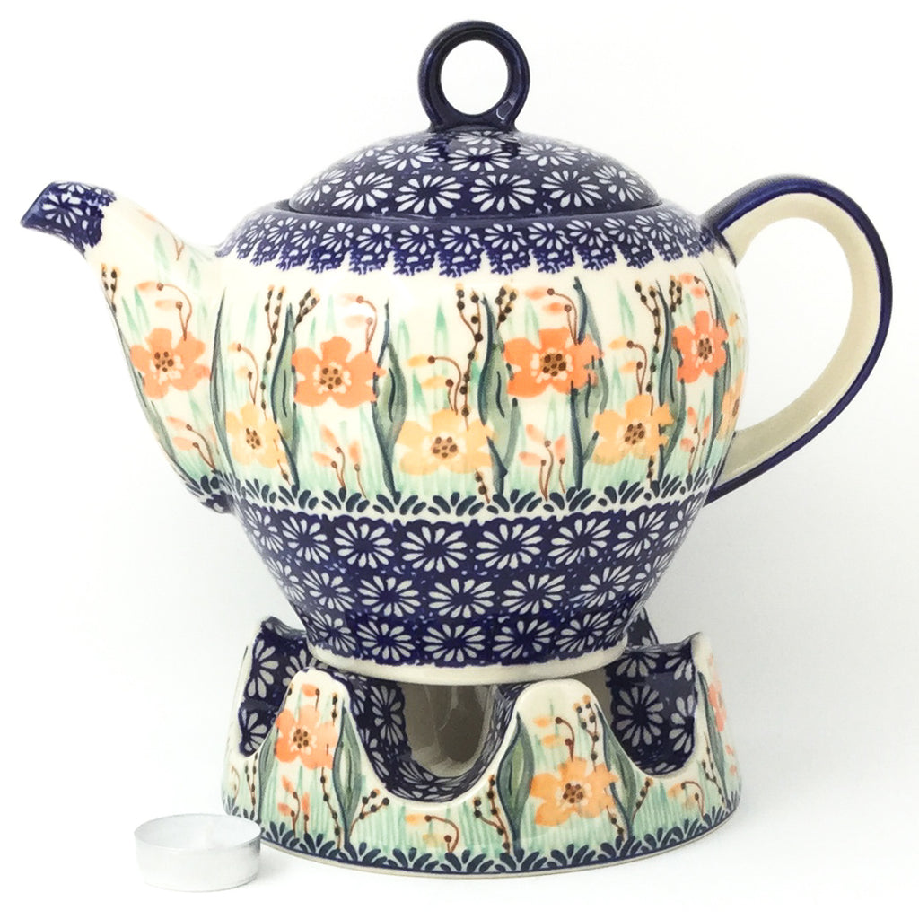 Victorian Teapot 1.75 qt in Sunshine Meadow