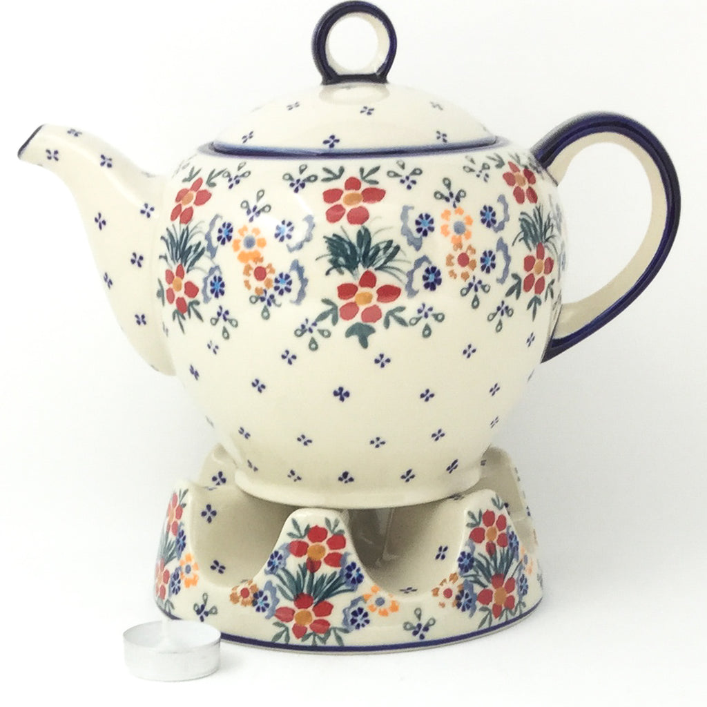 Victorian Teapot 1.75 qt in Delicate Flowers